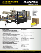 EL SERIES Tray Loader or Case Packer