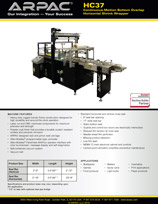 HC37 Continuous-Motion Bottom Overlap Horizontal Shrink Wrapper