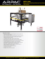 MTE-1200 Master Series Roll-Over/Fold And Tuck Style Tray Erector