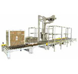 RTAC-4S5 Conveyors Single Post Conveyorized (5' Infeed and 5' Exit) Automatic Rotary Tower Wrapping System
